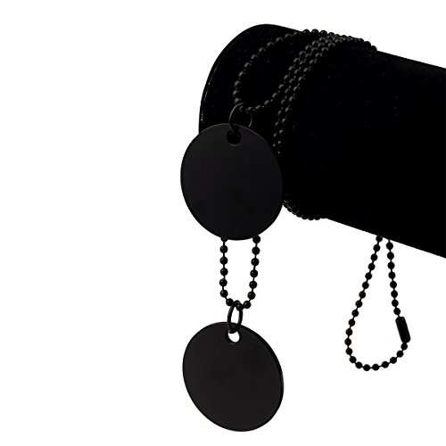 nyuk Design originale da uomo moda doppio anello Retro Hip Hop nero collana