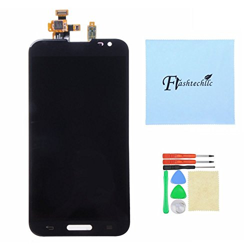 Black Or White Lcd Display Touch Digitizer Outer Glass Assembly For Lg Optimus G Pro E980 (Black)