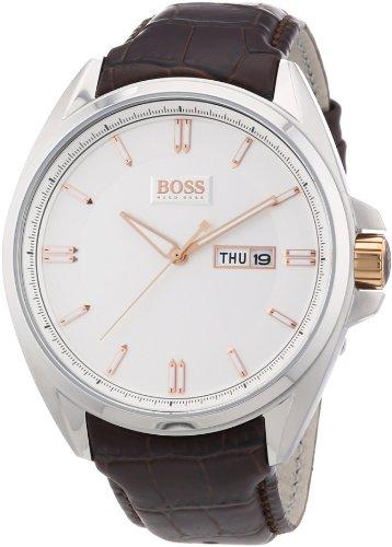 Hugo Boss 1512876 - Reloj analógico de cuarzo para hombre con correa de piel, color marrón
