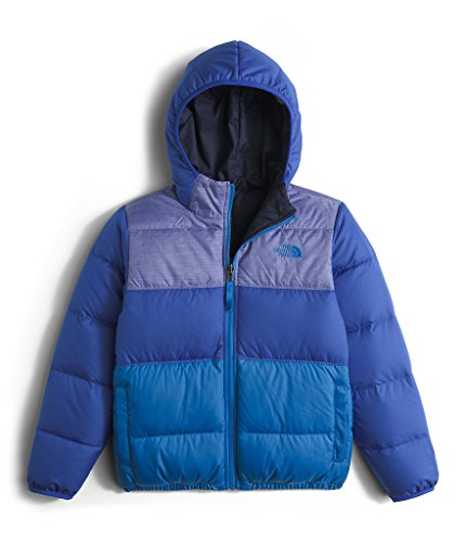 The North Face boys REVERSIBLE MOONDOGGY DOWN JACKET NF0A2TLRBH1_L - HONOR BLUE