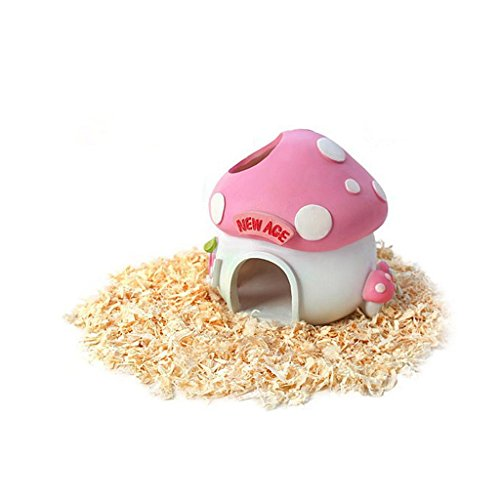 Pet-Hamster-Mouse-Rat-Rabbit-House-Mushroom-Resin-Hideaway-Nest-Bed-Cabin