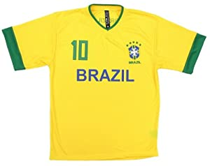 Buy Fifa World Cup Brazil Mens Yellow # 10 Soccer Jersey by True Rock