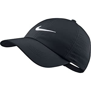 Amazon.com : Nike Youth Perforated Cap, Black/White, One