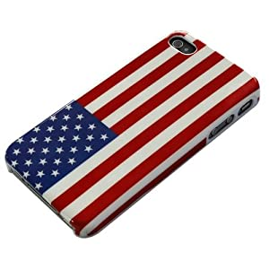 Patriotic American Flag iPhone 4/4s hard case red white and blue at amazon