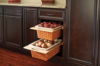 Woven Organizer Pullout Basket with Rails Sink amp Base Accessories 4WV-18I