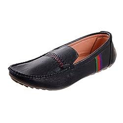 Sparkle Mens Black Loafers Shoes - 8 UK