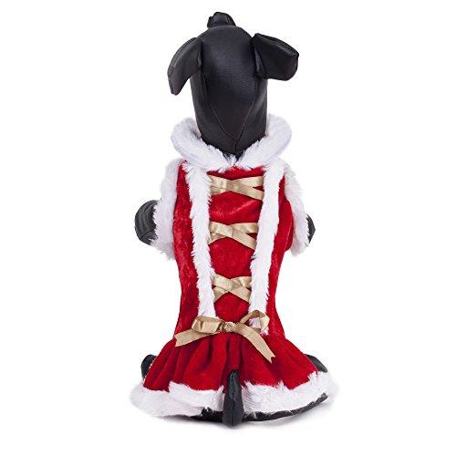 pet cotone cappotto caldo inverno morbido accogliente permeabilità all'aria rosso fondo cane arco dorato vestiti 2 pezzi , red , xs