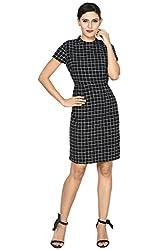 Annabelle by Pantaloons Women's Body Con Dress ( 205000005618999, Black, X-Large)