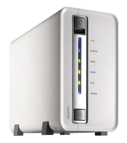 QNAP TS-210 1TB 2 Bay Turbo All-in-one NAS Server with iSCSI, iPhone Streaming, iTunes Server  &  Media Server