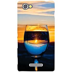 Sony Xperia M Wine Glass Matte Finish Phone Cover