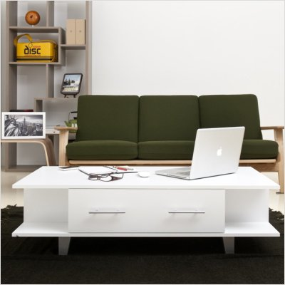 Claire Coffee Table in Matte White