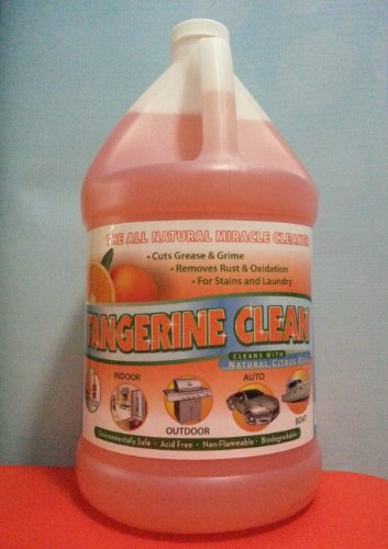 Cleaner -Tangerine Clean Concentrated Gallon Natural Citrus Degreaser & Carpet Cleaner $.47/Oz