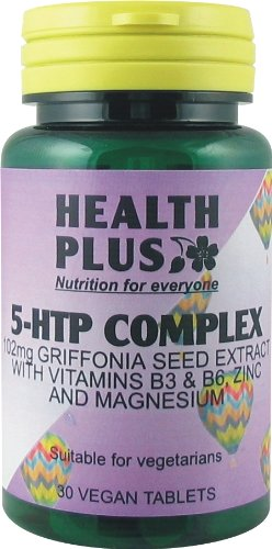 Health Plus 5-HTP Complex 100mg Mood and Memory Supplement - 30 Tablets