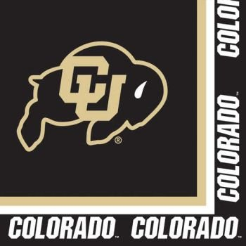 Creative Converting University of Colorado Buffaloes Luncheon Napkins (20 Count) - 1