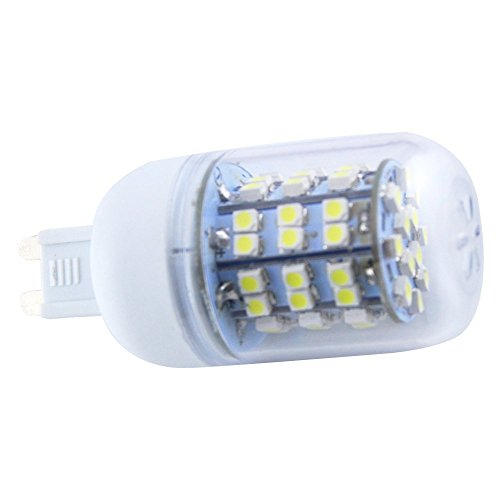 How Nice 6000-6500K G9 5W 60 Smd 3528 Led 450Lm Cool White Corn Light Lamp Bulb Equivalent Halogen 50W With Transparent Cover