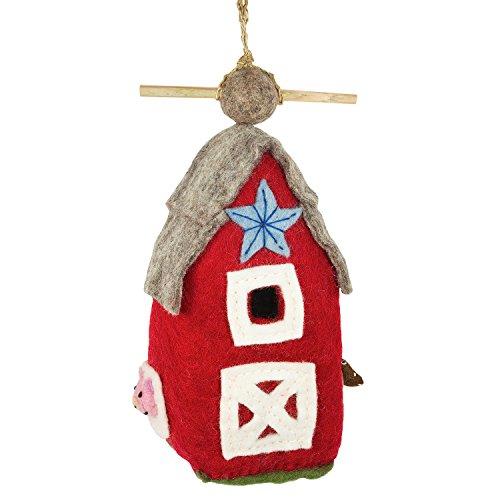 DZI Handmade Designs DZI484048 Country Barn Felt Birdhouse (Handmade Bird Houses compare prices)