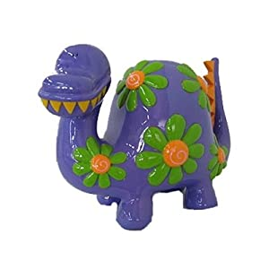 Purple dinosaur piggy bank 12 toys games - Dinosaur piggy banks ...