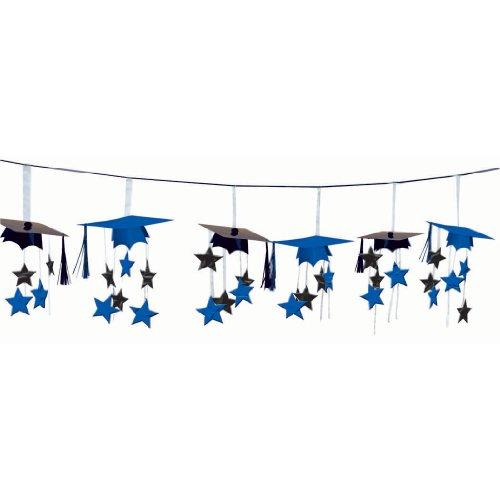 Amscan - Congrats Grad Blue Graduation 3D Garland