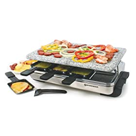Swissmar KF-77081 8-Person Stelvio Raclette Party Grill with Granite Stone