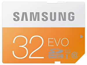 Samsung 32 Go Carte Mémoire Evo SDHC Classe 10 MB-SP32D/EU