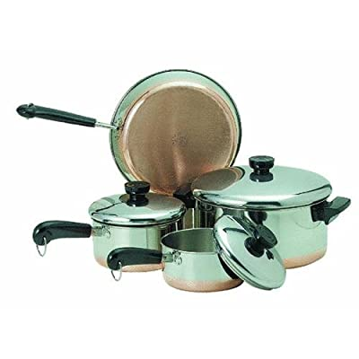 Ekco 1042262 Copper Clad 7-pc Cookware Set