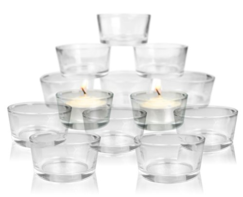 Tea Light Candle Holders - Clear Glass Candle Holders - Set of 72 - Wedding Decorations - Restaurant Decor - Party Candle Holders - Centerpieces