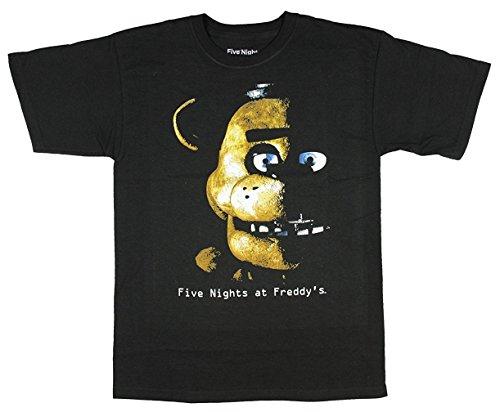 Cinque notti Freddy da Eclipse Boys Maglietta da ragazzo Ufficiale nero black large