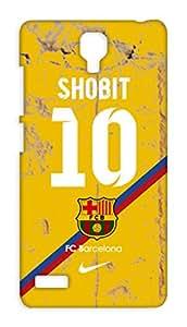 Customised Barcelona Football Club Desing mobile case for Xiaomi Redmi Note Prime - Hard Case Back Cover - Printed Designer - FCB BARCA - XIRMINPBARCACUST22