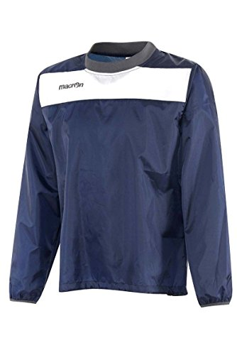 K-WAY ANTIVENTO SENZA ZIP GIROCOLLO IMPERMEABILE UOMO MACRON HANOI WINDBREAKER, Colore: Blu Navy, Taglia: L