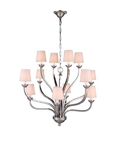 Urban Lights Vineland 12-Light Pendant Lamp, Polished Nickel