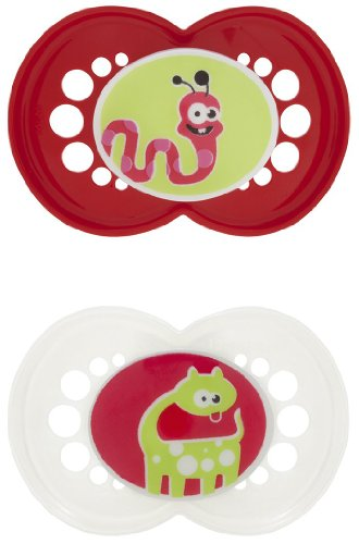Mam Monsters Orthodontic Silicone Pacifiers- Asst Colors front-848271