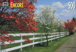 Encore 500 Piece Jigsaw Puzzle Dogwood & Fence - 1