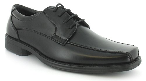 Mens/Gents Black Basic Lace Up Casual Formal Shoes Wider Fitting - Black - UK 9