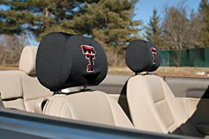 Texas Tech Red Raiders 2-pack Auto Head Rest Covers Cover Football University of