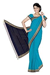 Srinidhi Silks Blue Silk Sari (Ssi 2016 06 A)