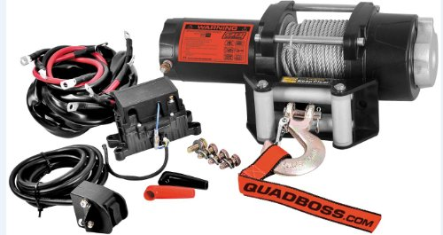 Quadboss 2500Lb Winch With Wire Cable Rp25Wc