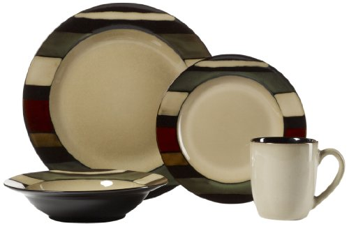Pfaltzgraff Studio 16-Piece Dinnerware Set, Mesa Stripe