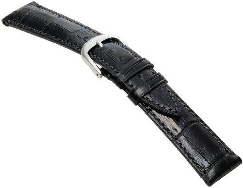 BAMBI (バンビ) エルセ時計バンド カーフ型押し 黒 20mm SK006A0-S メンズ
