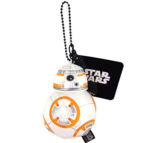 Japan Disney Official Star Wars the Force Awakens - BB-8 White Head Mascot Soft Plush Stuffed Toys Cushion Doll Plushie Ball Key Chain Strap Charm String Phone Ring Holder Accessory Takara Tomy Arts