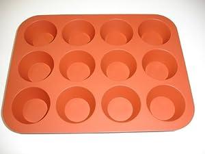 12cup Premium Silicone Mini Muffin Pan, BPA Free, Food Grade Silicone cupcake baking pan,... by BSEL