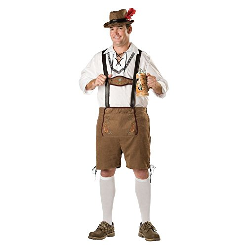 InCharacter Costumes Men's Plus-Size Oktoberfest Guy Plus Size Costume, Brown, 3X