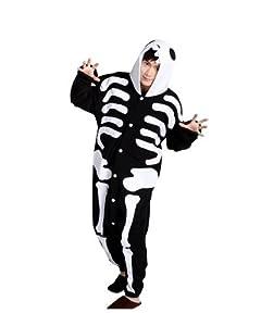 Keral Kigurumi Pyjama Adulte Anime Cosplay Halloween Costume Tenue_Crâne_Xl