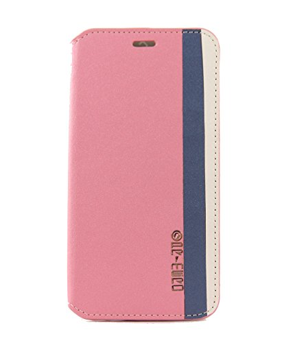 Exclusive Flip Case Cover For HTC DESIRE 816 / 816G - Deep Pink With Deep Jean Color And Cream Color Strips