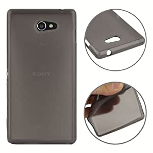 Crazy4Gadget Smooth Surface TPU Case for Sony Xperia M2 / S50h (Black)