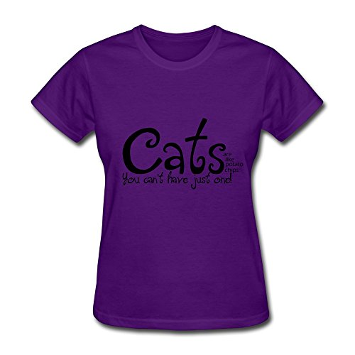 Zhitian Women'S Elegant Cats T-Shirt M