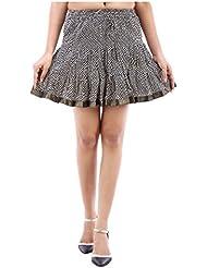 Sunshine Enterprises Women's Cotton Wrap Skirt (Black) - B01HELPPNY