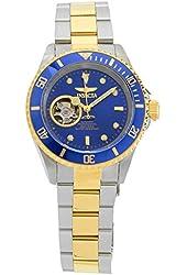 Invicta Women's Pro Diver Gold-Tone Steel Bracelet & Case Automatic Black Dial Analog Watch 21719
