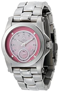 REACTOR Women's 96013 Helium Pink Pearl Dial Stainless Steel Sport Watch