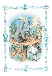 30 x 20 Stretched Canvas Poster Alice in Wonderland: Advice from a Caterpillar