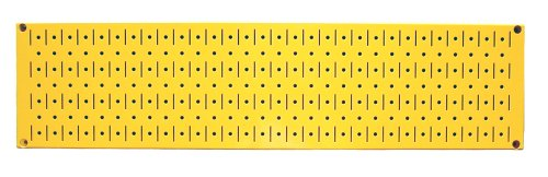 Wall Control Narrow Pegboard 8In X 32In Yellow Metal Pegboard Runner Tool Board